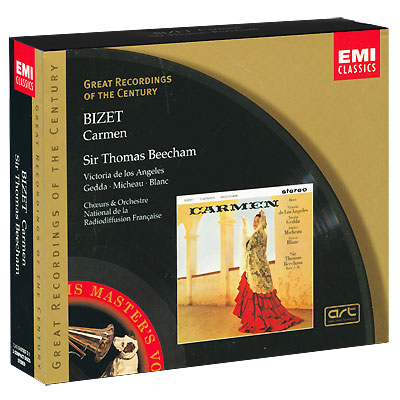 Thomas Beecham Bizet Carmen (3 CD) Серия: Great Recordings Of The Century инфо 3204a.