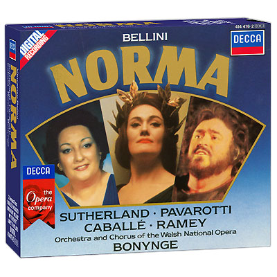 Richard Bonynge Bellini Norma (3 CD) Серия: The Compact Opera Collection инфо 3208a.